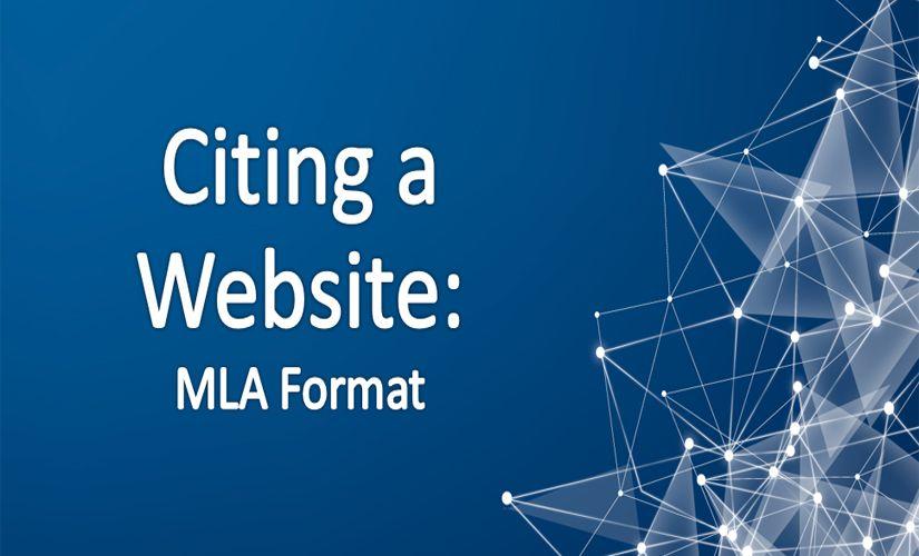 Citing a website mla
