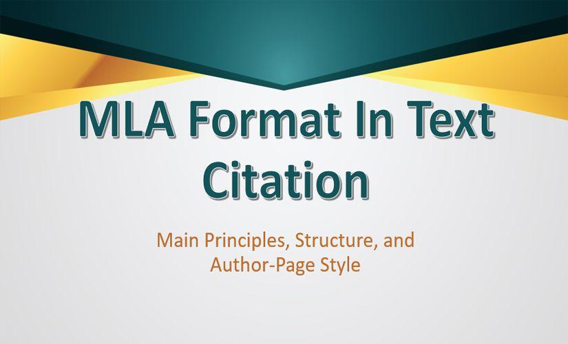 MLA format in text citation