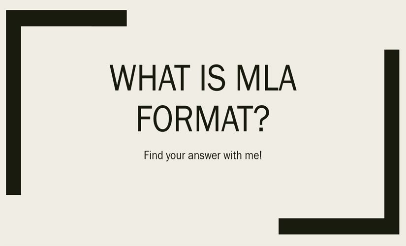 What is MLA format