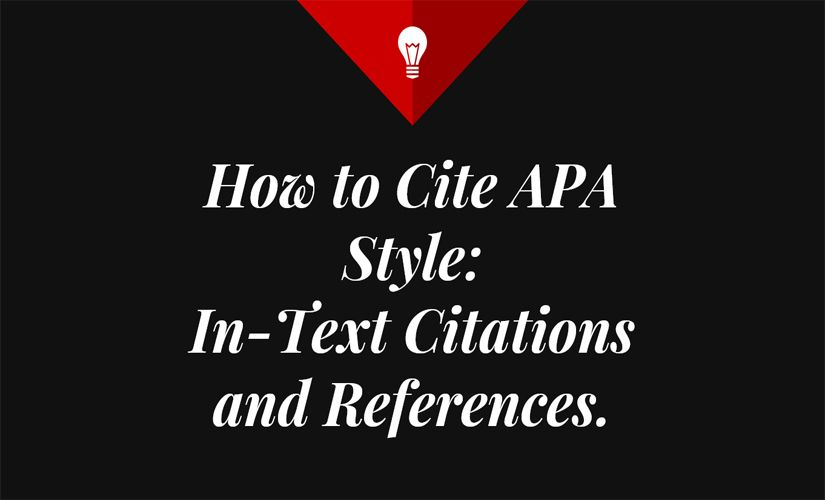 How to cite APA style