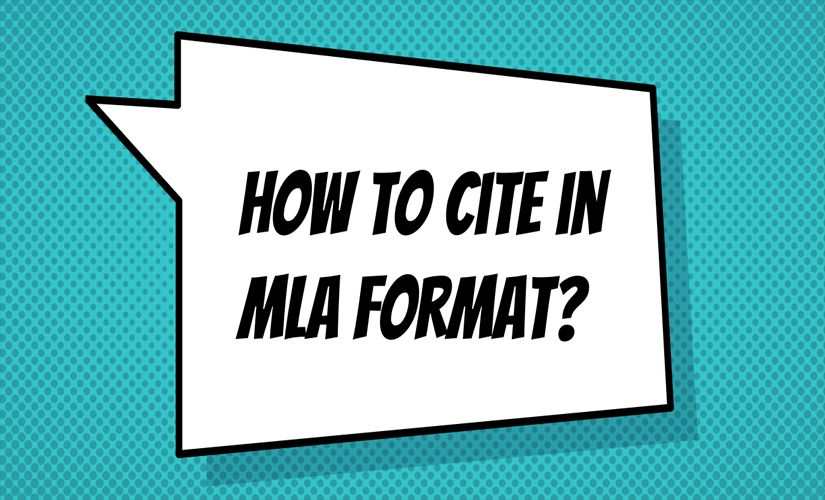 How to cite in MLA format