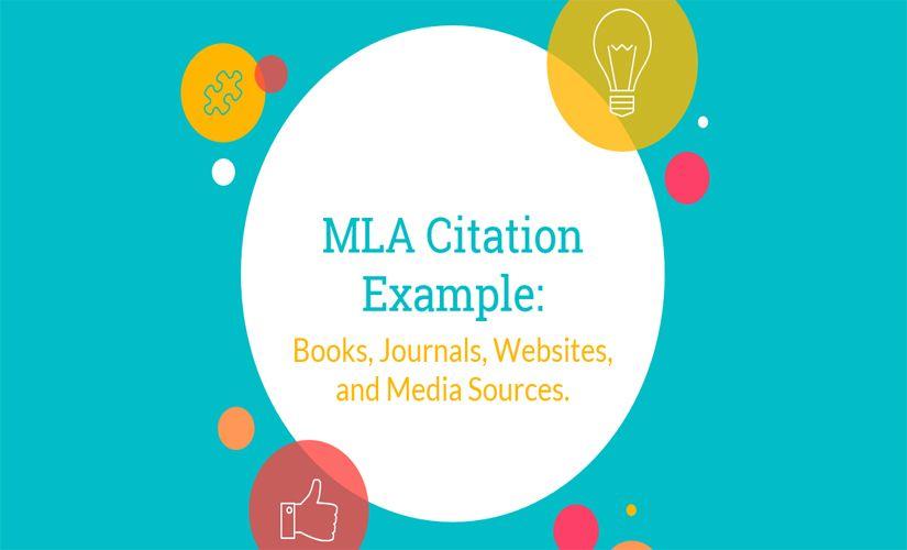 Mla Citation Example Books Journals Websites And Media