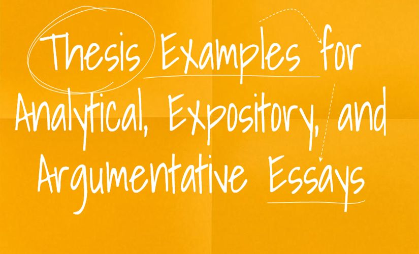 thesis examples for analytical expository and