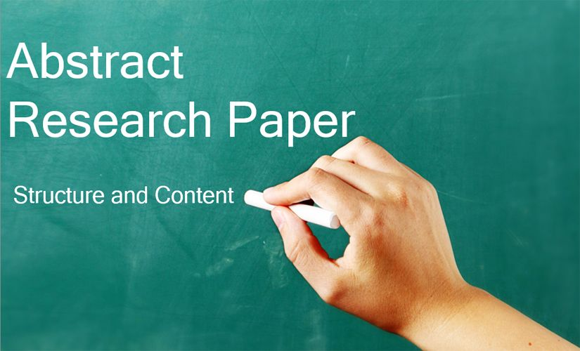 Abstract research paper