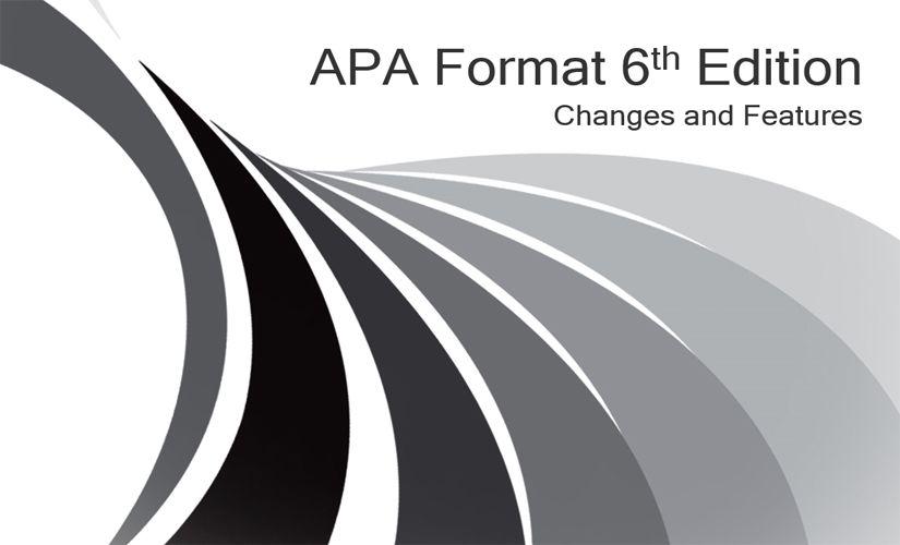 APA format 6th edition