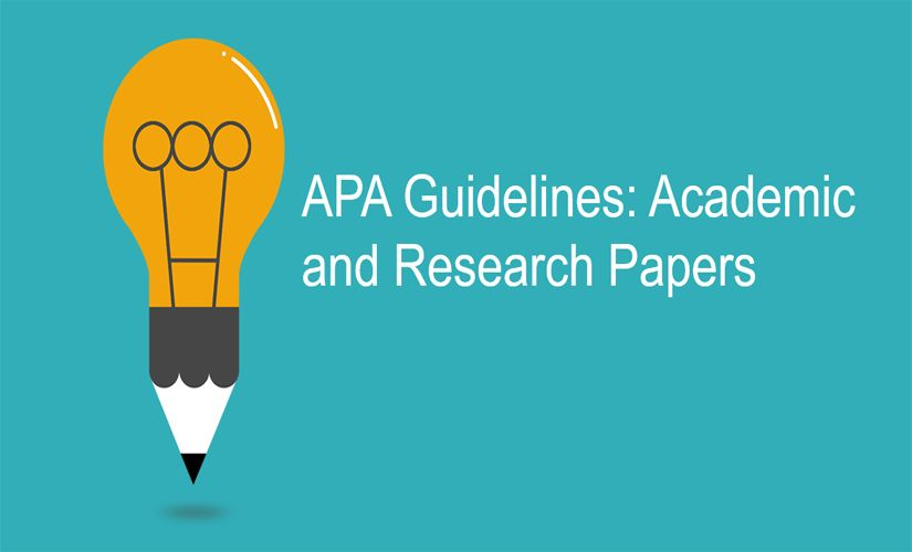 APA guidelines