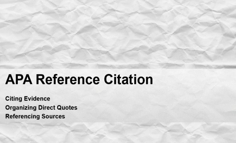APA reference citation
