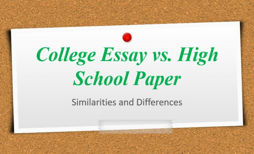 The Yellow Wallpaper Essay Topics  Proposal Essay Format also Argumentative Essay Examples High School College Essay Vs High School Paper Similarities And  Persuasive Essay Paper