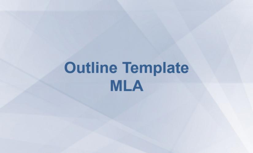 Outline template mla