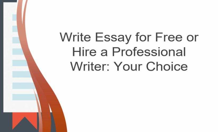 Write essay for free