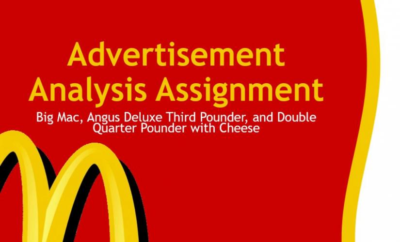 Advertisement analysis assignment
