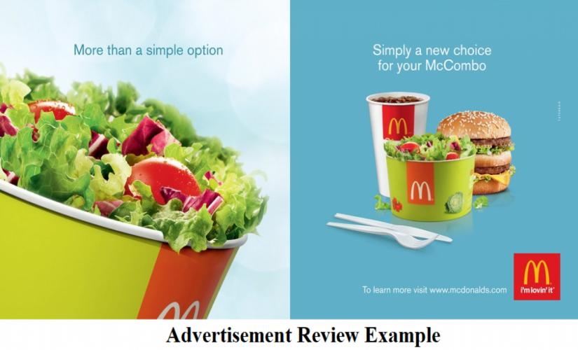 Advertisement review example