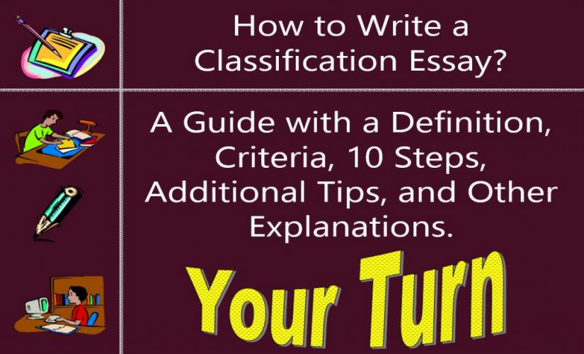How to write a classification essay