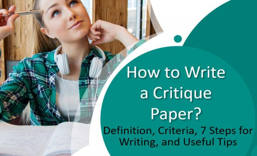 How to write a critique paper