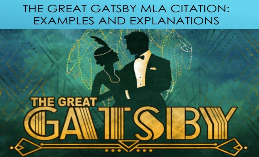 The Great Gatsby MLA citation