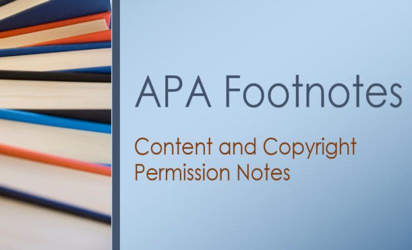 apa footnotes