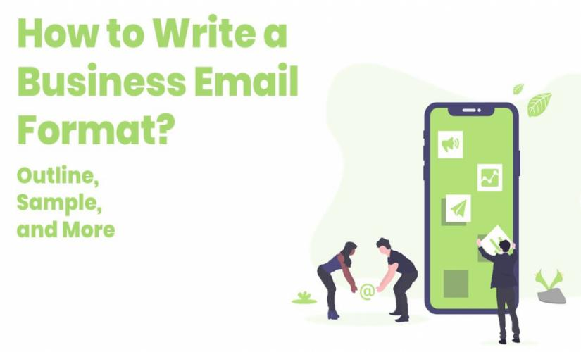 how to write a business email format