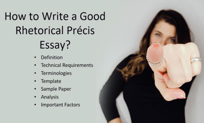 How to write a rhetorical précis