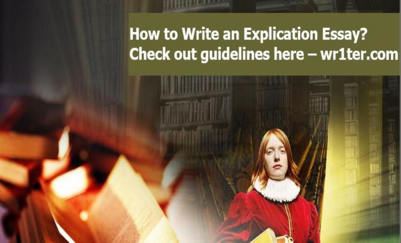 How to write an explication essay