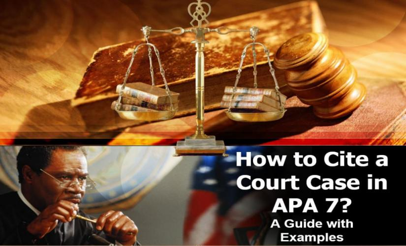 How to cite a court case in APA