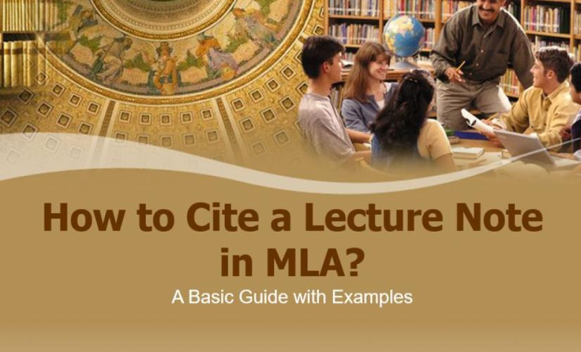 How to cite a lecture note in MLA