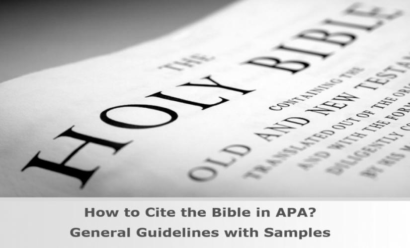 How to cite the Bible in APA