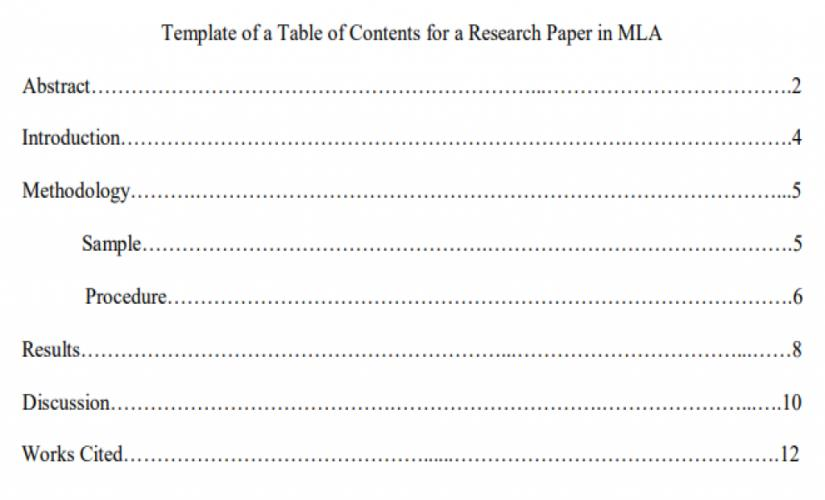 Thesis paper table of contents example best dissertation introduction ghostwriters service online