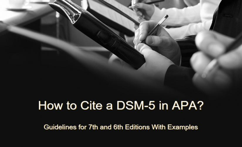 How to cite a DSM-5 in APA 7 and 6