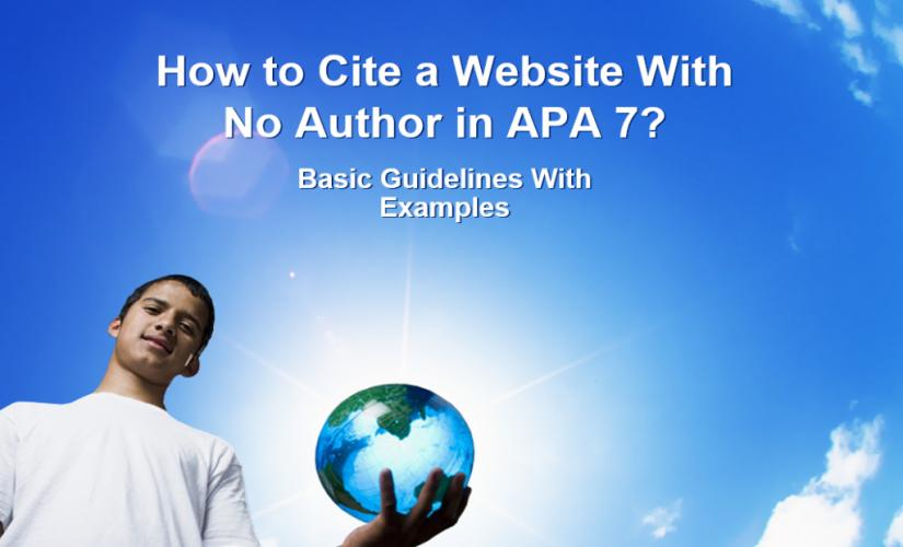 How to cite a website with no author in APA