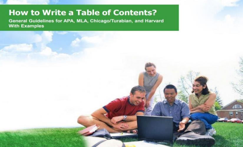 How to write a table of contents