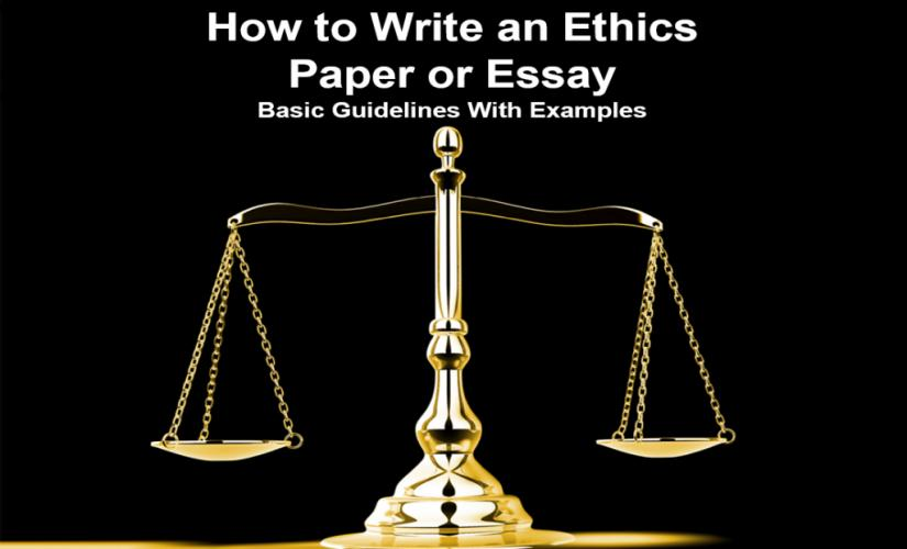How to write an ethics paper or essay